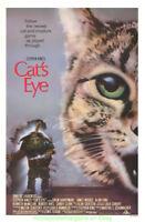 CAT'S EYE MOVIE POSTER Original 27x41 James Woods STEPHEN KING Horror Film 1985
