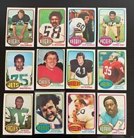 Lot of 12 1976 Topps Football Cards w/ Alzado, Dawson, Bleier - Nice Condition