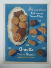 Vintage Australian advertising 1953 ad ARNOTT'S FAMOUS CREAM BISCUITS