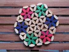 Untersetzer Bambus bunt Holz