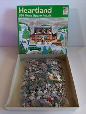 Heartland The Warming House 550pc Puzzle (Sealed bag) MADE IN USA Christmas Snow