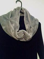 Women's Infinity Scarf, Soft Plush, Grey