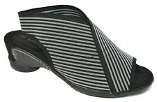 TS shoes TAKING SHAPE sz 6 / 37 Ella Stripe Elastic Sandal wide fit comfy NIB!