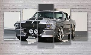 Ford Shelby GT500 Mustang 5 Panel Canvas, Sports, Wall Art, Picture, Print #020