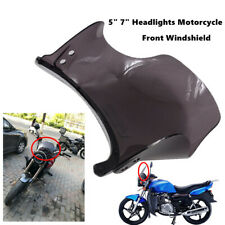 """Motorcycle Front Windshield PC For Round 5"""" 7"""" Headlights Streamlined Cover Set"""