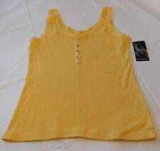 Ava & Grace Juniors Womens Sleeveless Tank Top Shirt Yellow XL xlarge NWT