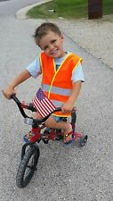 Bright Yellow or Bright Orange Reflective Vest for Kids - Child's Safety Vest