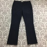 "Ann Taylor Loft Womens Pants sz 10 w/32"" in Black Bootcut Brushed Cotton Stretch"