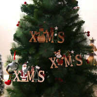 Merry Christmas Doorplate/Wooden Pendants DIY Xmas Tree Ornaments Home Decor_UK
