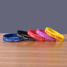 Silicone Bracelet Type 1 Diabetes Medical Alert Wristband Insulin Medical Band