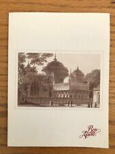 Vintage air India airline menu