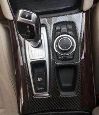 Black Carbon Fiber Gear Shift Panel Cover Trim 1pcs for BMW X5 E70 2010-2013