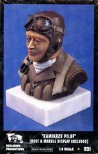 Verlinden 1:4 Kamikaze Pilot Bust & Marble Display included Resin Bust Kit #931