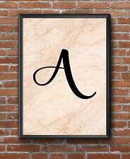 Inspirational Personalised Stylish Single Letter Poster Print Wall GreetingCard