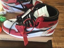 The 10: Air Jordan 1 x OFF-WHITE Size 8.5 100% Authentic AA3834-001 Virgil Abloh