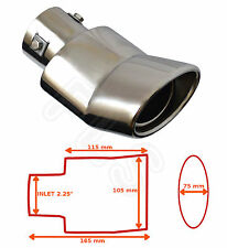 """UNIVERSAL STAINLESS STEEL EXHAUST TAILPIPE 2.25"""" INLET YFX-0227–Vauxhall 2"""