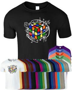 Rubik's Cube Equations Mens Kids Tshirt Funny Retro Puzzle Cooper Tee Top TShirt