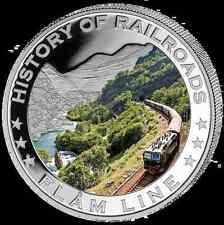 Liberia 2011 $5 History of Railroads - Flam Line Proof Silver Coin