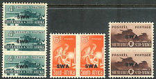 South West Africa 1943 reduced size part set mint SG128/129/130