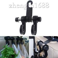 New Black Universal Car Back Seat Headrest Hanger Holder 2-hook Bag Purse Cloth