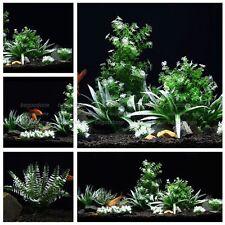 Plastic Aquarium plants Package Artificial Aquatic Landscape Decorations Lot