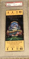 1994 Super Bowl XXVIII Full Ticket PSA 9 mint. Dallas Buffalo. Smith MVP
