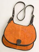 ITAL DESIGN Sac à Bandoulière Messenger en cuir véritable orange 56