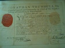 Johnathan Trumbull Colonial Document