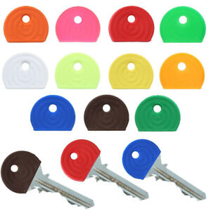 COLOURED KEY CAPS Keyring Top Toppers ID Marker Door Safe Lock Colour Coded