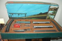 COFFRET TRAIN ELECTRIQUE GEGE L AQUILOR  COMPLET VINTAGE 1970 HO LOCOMOTIVE