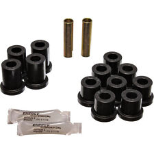 Energy Suspension Rear Chevy Bel Air Leaf Spring & Shackle Bushing Set (Black)