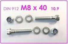 2x Zylinder Schraube M12 x 100 DIN 912 verzinkt mit U Scheibe /& Sicherungsmutter