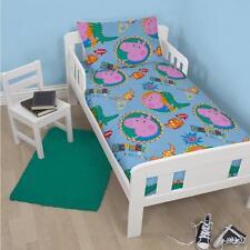 Peppa Pig George Roar Junior Toddler Cot Bed Duvet Set Quilt Cover Kids Bedding