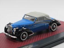 Matrix Scale Models 1938 Voisin C30 Goelette Cabriolet by Dubos closed blue 1/43