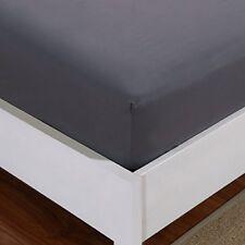 Draps-housses gris en microfibre pour le lit