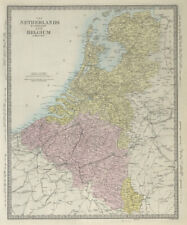 NETHERLANDS & BELGIUM. Luxembourg. Benelux. Provinces. Holland. SDUK 1857 map