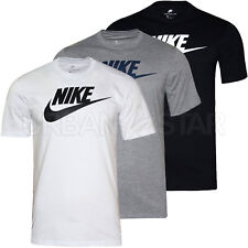 New Mens Nike T-Shirt Retro Gym Sports Nike Logo Top Crew Neck Tee S M L XL