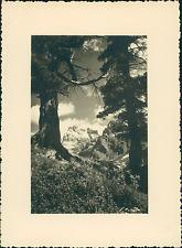 France, Le Mont-Viso, Vue prise de la Vallée du haut Guil  Vintage silver print