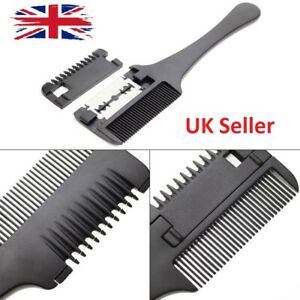 Hair Trimming Razor Comb Grooming Blade Trimmer Hairdressing Cutting Tool New UK