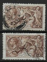 SG450. 2s6d.Chocolate-Brown - 2 Fine Used Examples.  Ref:03184