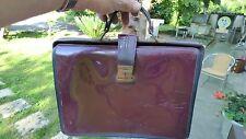 cartable sac vintage en simii cuir bordeaux vintage porté main