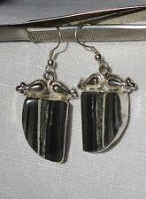 925 Sterling Silber Ohrringe Mitternachts Jaspis