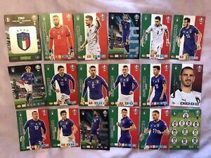 PANINI ADRENALYN XL EURO 2020 FULL TEAM SET OF 18 ITALY CARDS