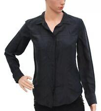 Isabel Marant Etoile Full Sleeves Soie Silk Black Blouse Tunic Shirt Size S 36