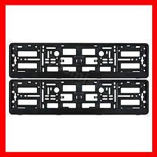2 x Black Effect License Number Plate Holder Surround Frame for MITSUBISHI Car