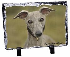 Whippet Dog 'Love You Mum' Photo Slate Christmas Gift Ornament, AD-WH92lymSL