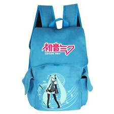 Anime Hatsune Miku Cosplay Blue Canvas Backpack Rucksack Satchel Bag School Bag