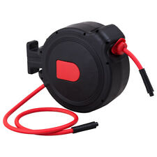 "3/8"" X 50' Retractable Air Hose Reel 1/4"" Inlet 300PSI Auto Rewind Garage Tool"