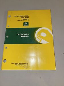 John Deere 9100 9200 9300 9400 Tractors Operator's Manual OMAR177989 J0 Waterloo