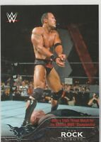 2016 Topps Heritage WWE The Rock Tribute Card #24 Wins 7th WWE Championship